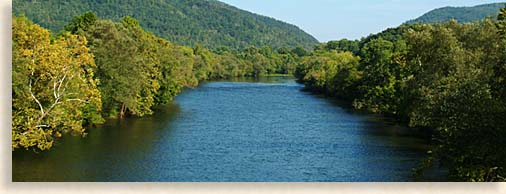 Hiwassee River in McMinn County Tennessee River Valley and Tennessee Overhill