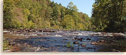 Tellico River in McMinn County Western North Carolina