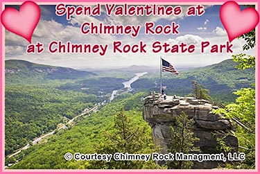 Valentines day at Chimney Rock at Chimney Rock State