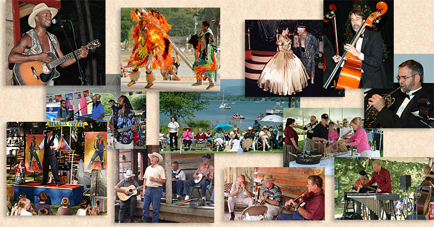 Entertainment in the Blue Ridge and Smoky Mountains, Blue Grass, Jazz, Reggae, Theater, Theatre, Classical Music