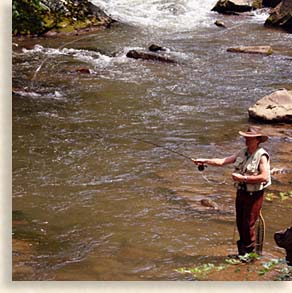 Fly Fishing in the Nantahala Gorge