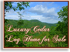 Luxury Cedar Log Home for Sale in Golden Valley North Carolina