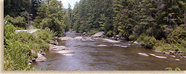 Toccoa River in teh Aska Adventure Area