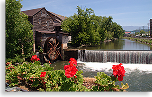 Pigeon Forge Tennessee on the Little Pigeon River