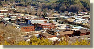 Downtown Copperhill, Tennessee in the Copper Basin